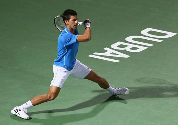 After Berdych Push, Djokovic Prevails in Dubai to Reach Final