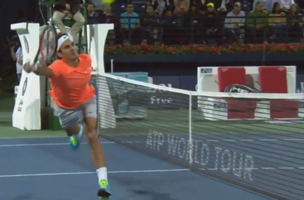 "Federer Waves the ""Magic Wand"" vs. Verdasco"