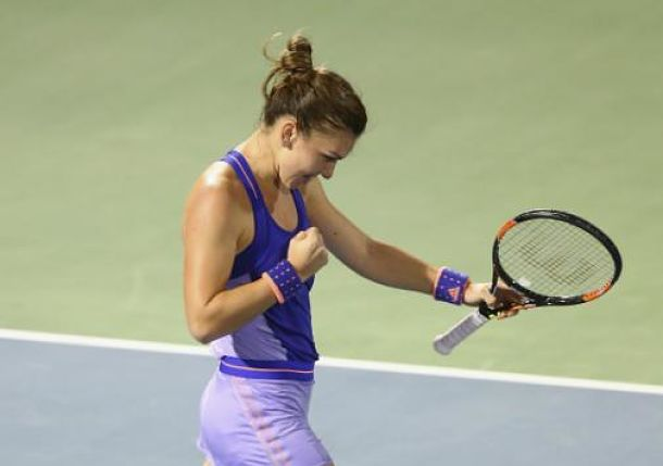 Halep Romps Wozniacki to Set Pliskova Final Clash