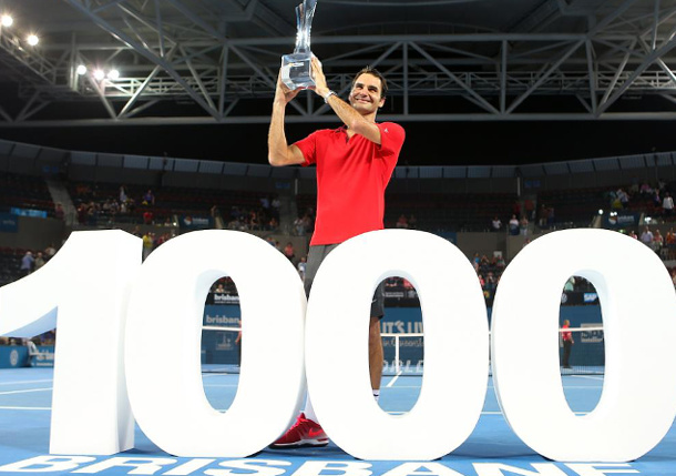 Federer Claims Brisbane with 1,000th Win
