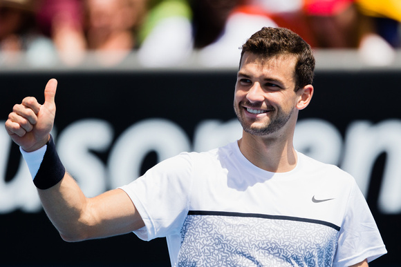 Dimitrov Posts Solid Melbourne Opener Against Brown