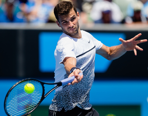 Dimitrov Outlasts Baghdatis in Third Round Shotmaking Fest