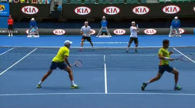 Gif: Fognini Pegs Rojer During Doubles Semis