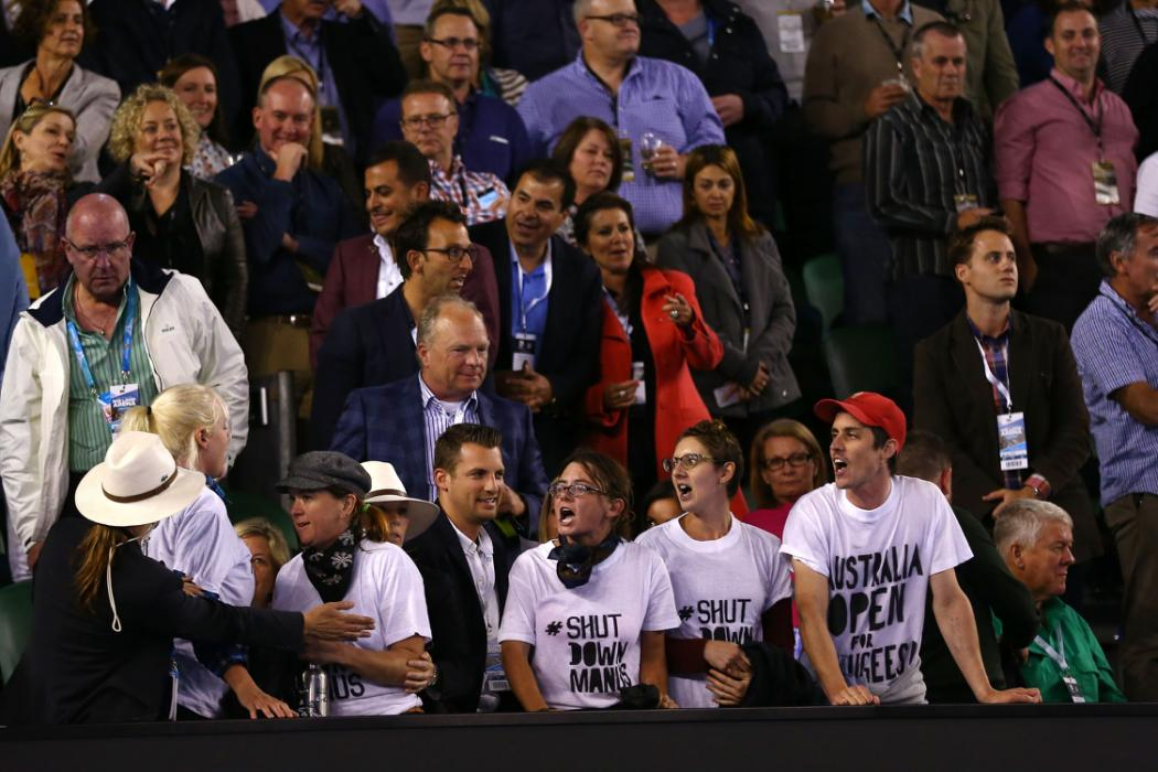 Protesters Interrupt Second Set of Australian Open Final