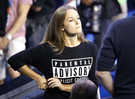 Kim Sears Sits Courtside in a Parental Advisory T-Shirt at Australian Open Final