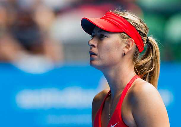 Sharapova  Sets Bouchard Clash with Win over Peng
