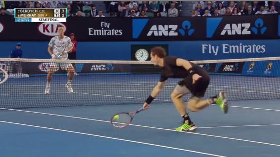Murray Busts out the Track Shoes on Phenomenal Get vs. Berdych