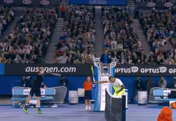 Video: Kyrgios Gets Cute on Ruthless Murray