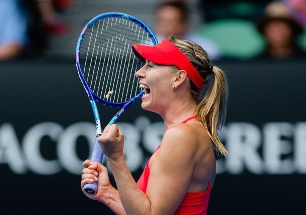 Sharapova Confidently Dispatches Bouchard to Reach Semis