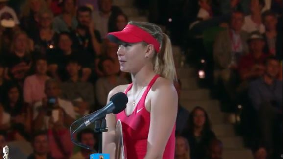 Video: Sharapova Gets Rave Reviews for Runner-Up Speech