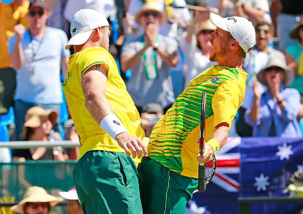 Australia Wins Doubles to Stay Alive in Davis Cup Quarterfinals