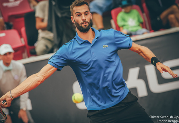 Paire Topples Top-Seeded Goffin in Bastad Drizzle