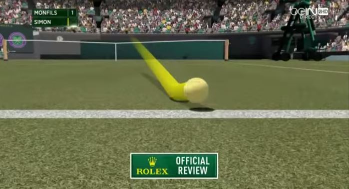 Gael Monfils Hit a Smash So Hard Nobody Knew if it Was in or Out
