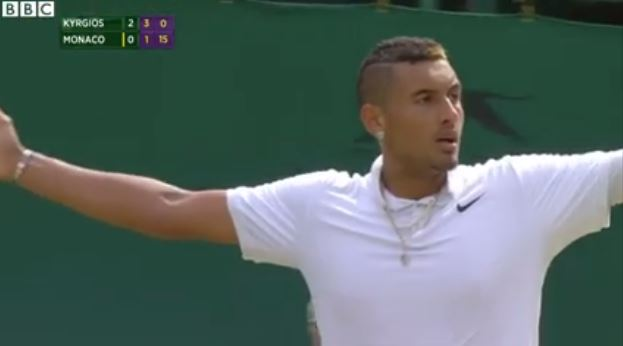 Video: Kyrgios Hits Mach 4 Forehand vs. Monaco