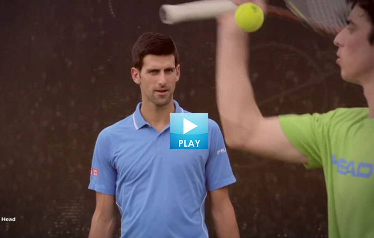 Model Moments - Stars Play Football - Trick Shot Leaves Djokovic Speechless
