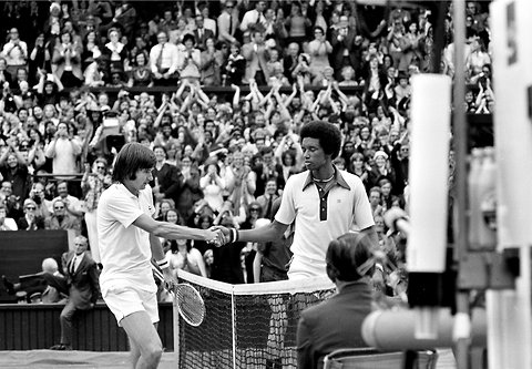 Ashe's Triumph over Connors at Wimbledon in '75 Was Larger than Tennis