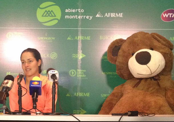 Bear With Me: Ana Ivanovic's Wild Week in Monterrey