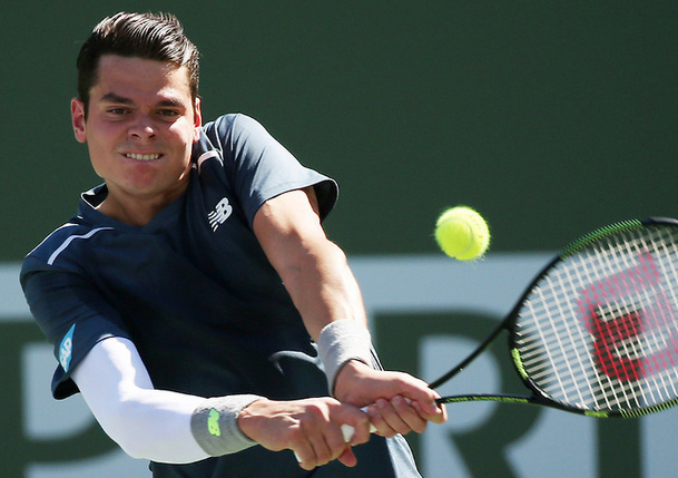 Video: Milos Raonic Decapitates Racquet With Practice Serve