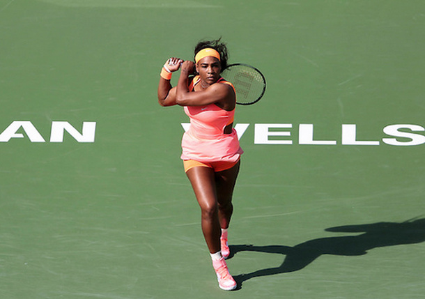 Serena Powers Past Sloane Into Indian Wells Quarterfinals