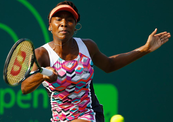 Venus Powers Past Wozniacki Into Miami Quarterfinals