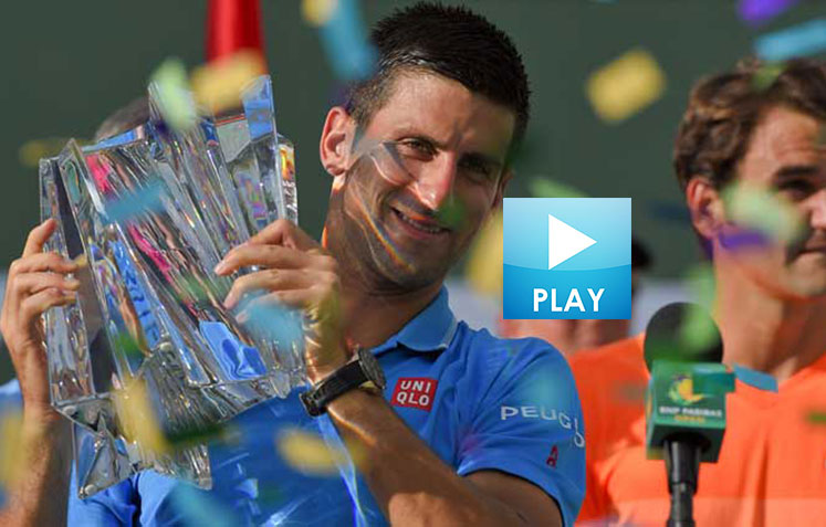 Djokovic Celebrates 50th - Serena's Bikini Shot in Vogue - Agassi vs. Blind Tennis Player