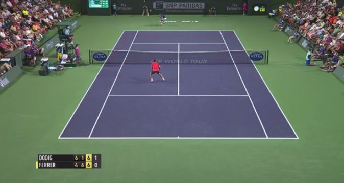 Dodig Flummoxes Little Beast with Improbable Lob