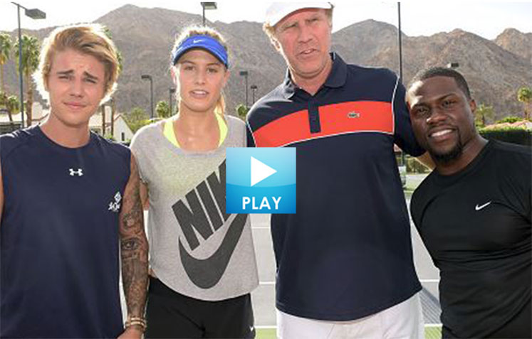 Bouchard Teams With Celebrity Crush - Kid Beats Federer- Jimmy Connors Last Match