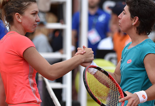 Suarez Navarro Subdues Halep to Reach Rome Final