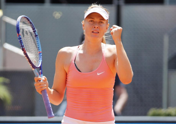 Sharapova Stops Wozniacki to Reach Madrid Semifinals