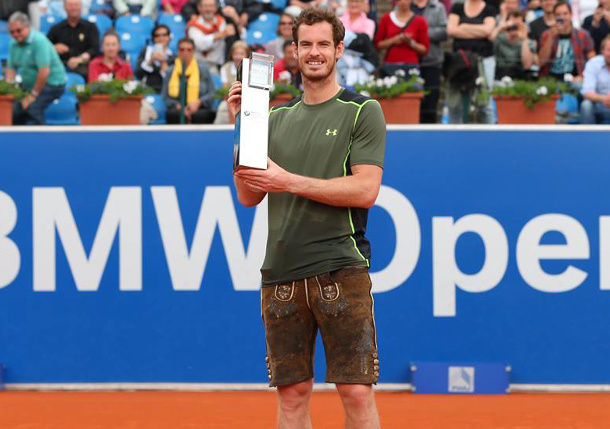 Murray Edges Kohlschreiber to Win First Clay-Court Crown in Munich