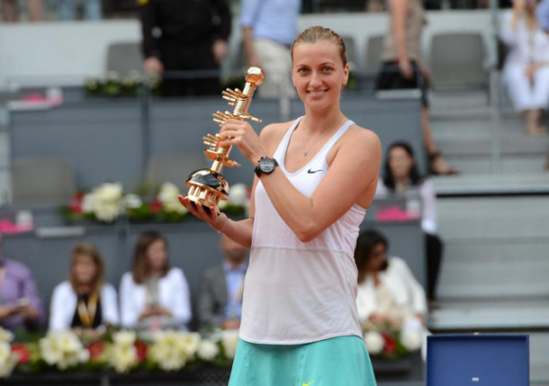 Kvitova Crushes Kuznetsova to Capture Second Madrid Crown
