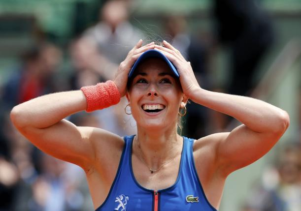 Alize Cornet and the Art of a Proper Celebration