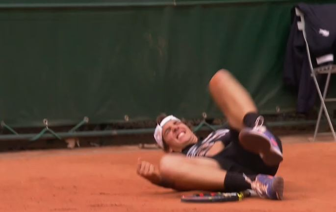 Kokkinakis Takes Wicked Tumble in Battle vs. Tomic