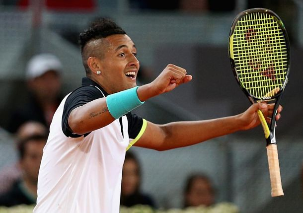 Kyrgios Saves 2 MPs in Epic Tiebreaker to Defeat Federer in Madrid