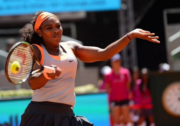 Streaking Serena Downs Suarez Navarro in Madrid