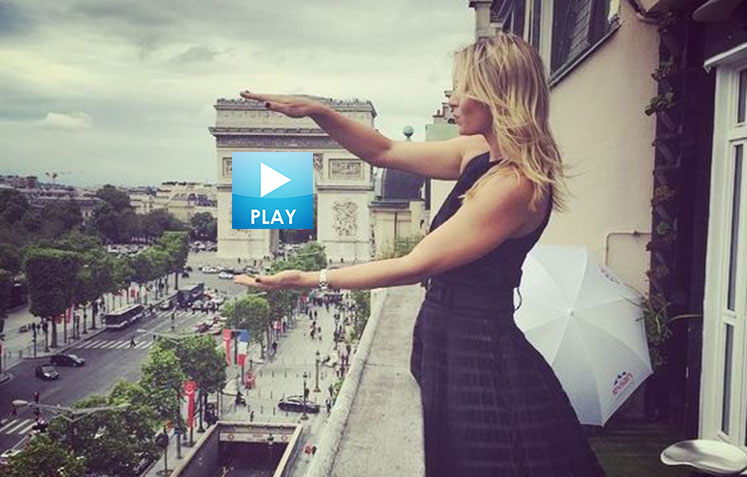 Maria Sharapova's Paris Photo Album - Hall of Fame Re-Opens - Andy Murray Takes Shots At kokkinakis