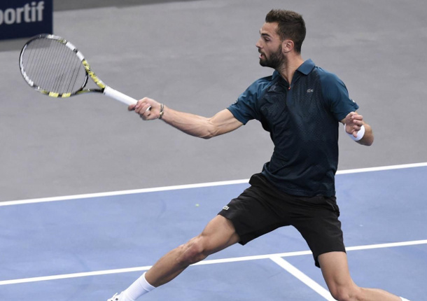 Paire Defeats Monfils In Paris