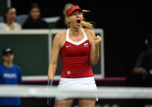 Sharapova Stops Kvitova; Pliskova Levels Fed Cup Final