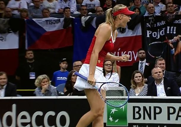 Sharapova Brings Russia Even with Czechs
