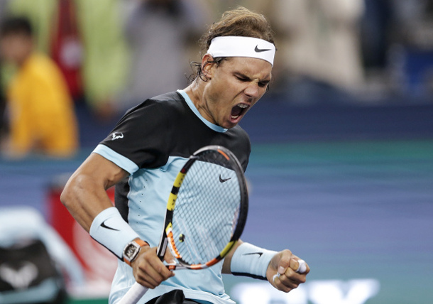 Nadal Punches Past Wobbly Wawrinka in Shanghai