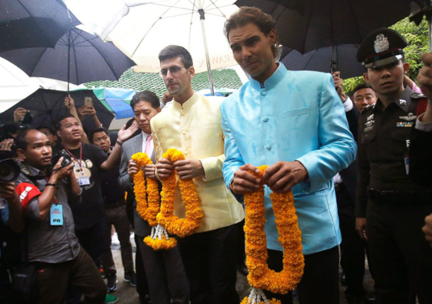 Video: Djokovic, Nadal Pay Respects in Bangkok