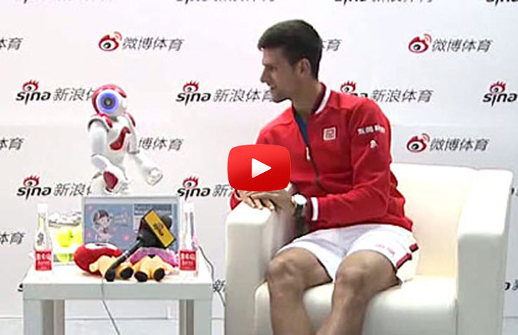 Ivo is Ace King-Novak Meets Robot-Stars At Great Wall