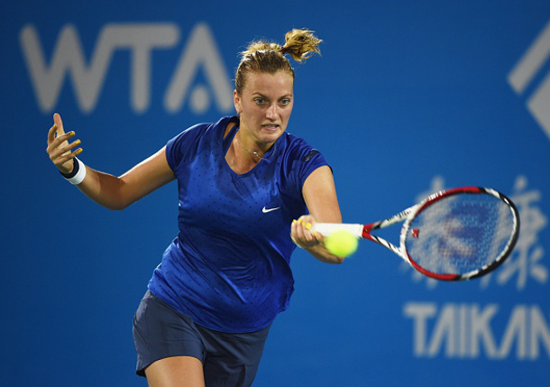 Kvitova Fights Off Gavrilova in Wuhan