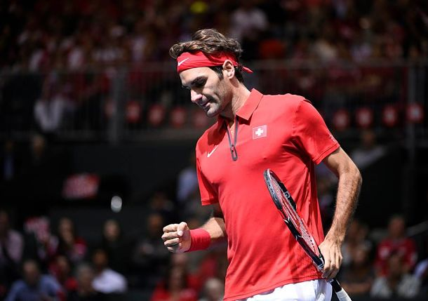 Swiss Back in World Group as Federer Finishes De Bakker
