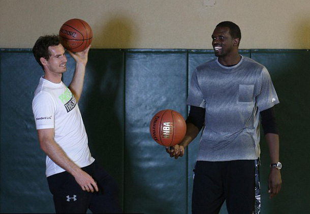 Murray Shoots Hoops, Shares Dreams with Deng