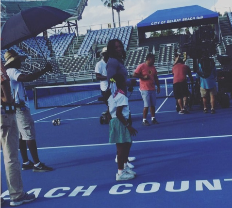 Watch: Serena Dances With Young Serena