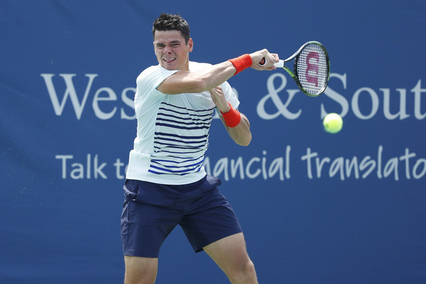 Raonic Rockets Past Thiem to Reach Cincy Semifinals