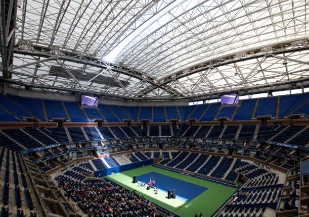 US Open Roof Raising Provides Spectacle, Suspense