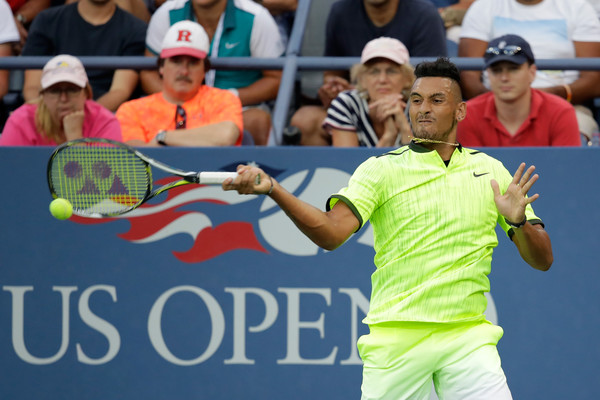 Watch: Kyrgios Skies to Smoke Forehand