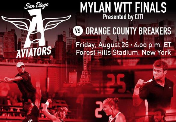 Aviators and Breakers to Square off in Mylan WTT Final
